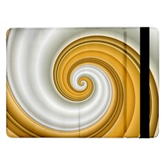 Golden Spiral Gold White Wave Samsung Galaxy Tab Pro 12 2  Flip Case by Alisyart