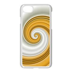 Golden Spiral Gold White Wave Apple Iphone 7 Seamless Case (white) by Alisyart