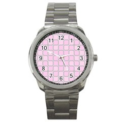 Light Pastel Pink Sport Metal Watch by Alisyart