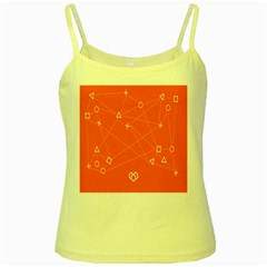 Leadership Deep Dive Orange Line Circle Plaid Triangle Yellow Spaghetti Tank by Alisyart