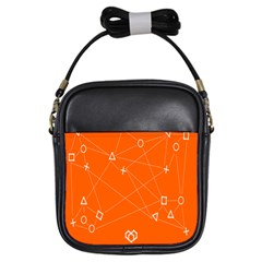 Leadership Deep Dive Orange Line Circle Plaid Triangle Girls Sling Bags by Alisyart