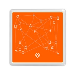 Leadership Deep Dive Orange Line Circle Plaid Triangle Memory Card Reader (square)  by Alisyart
