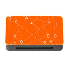 Leadership Deep Dive Orange Line Circle Plaid Triangle Memory Card Reader With Cf by Alisyart