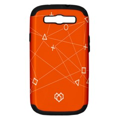 Leadership Deep Dive Orange Line Circle Plaid Triangle Samsung Galaxy S Iii Hardshell Case (pc+silicone)