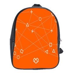 Leadership Deep Dive Orange Line Circle Plaid Triangle School Bags (xl)  by Alisyart