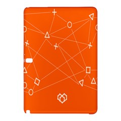Leadership Deep Dive Orange Line Circle Plaid Triangle Samsung Galaxy Tab Pro 10 1 Hardshell Case by Alisyart