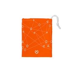 Leadership Deep Dive Orange Line Circle Plaid Triangle Drawstring Pouches (xs)  by Alisyart