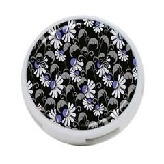 Flourish Floral Purple Grey Black Flower 4 Port Usb Hub (two Sides)  by Alisyart