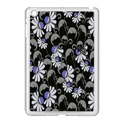 Flourish Floral Purple Grey Black Flower Apple Ipad Mini Case (white) by Alisyart