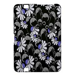 Flourish Floral Purple Grey Black Flower Kindle Fire Hd 8 9  by Alisyart