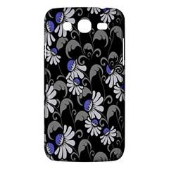 Flourish Floral Purple Grey Black Flower Samsung Galaxy Mega 5 8 I9152 Hardshell Case  by Alisyart