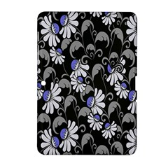 Flourish Floral Purple Grey Black Flower Samsung Galaxy Tab 2 (10 1 ) P5100 Hardshell Case  by Alisyart