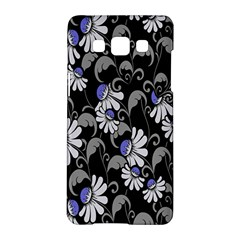 Flourish Floral Purple Grey Black Flower Samsung Galaxy A5 Hardshell Case  by Alisyart