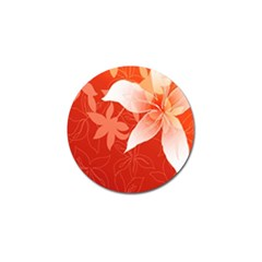 Lily Flowers Graphic White Orange Golf Ball Marker (4 Pack) by Alisyart