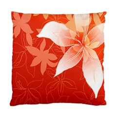 Lily Flowers Graphic White Orange Standard Cushion Case (one Side) by Alisyart