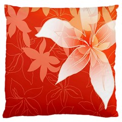 Lily Flowers Graphic White Orange Standard Flano Cushion Case (two Sides) by Alisyart