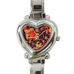 Lava Active Volcano Nature Heart Italian Charm Watch by Alisyart