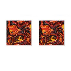 Lava Active Volcano Nature Cufflinks (square) by Alisyart
