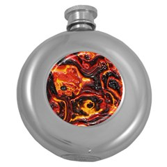 Lava Active Volcano Nature Round Hip Flask (5 Oz) by Alisyart