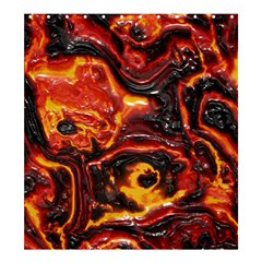 Lava Active Volcano Nature Shower Curtain 66  X 72  (large)  by Alisyart