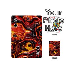 Lava Active Volcano Nature Playing Cards 54 (mini)  by Alisyart