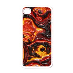 Lava Active Volcano Nature Apple Iphone 4 Case (white) by Alisyart