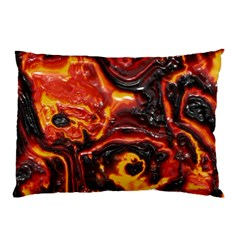 Lava Active Volcano Nature Pillow Case (two Sides) by Alisyart