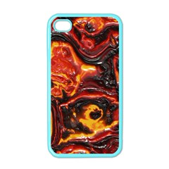 Lava Active Volcano Nature Apple Iphone 4 Case (color) by Alisyart
