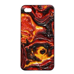 Lava Active Volcano Nature Apple Iphone 4/4s Seamless Case (black) by Alisyart