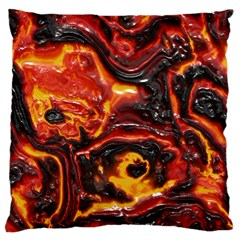 Lava Active Volcano Nature Large Cushion Case (two Sides) by Alisyart