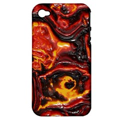 Lava Active Volcano Nature Apple Iphone 4/4s Hardshell Case (pc+silicone) by Alisyart
