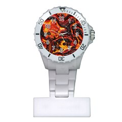 Lava Active Volcano Nature Plastic Nurses Watch by Alisyart
