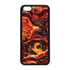 Lava Active Volcano Nature Apple Iphone 5c Seamless Case (black) by Alisyart