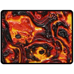 Lava Active Volcano Nature Double Sided Fleece Blanket (large)  by Alisyart