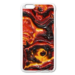 Lava Active Volcano Nature Apple Iphone 6 Plus/6s Plus Enamel White Case by Alisyart