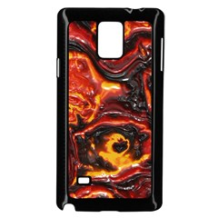 Lava Active Volcano Nature Samsung Galaxy Note 4 Case (black) by Alisyart