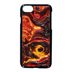 Lava Active Volcano Nature Apple Iphone 7 Seamless Case (black) by Alisyart