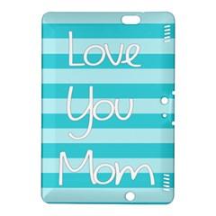 Love You Mom Stripes Line Blue Kindle Fire Hdx 8 9  Hardshell Case by Alisyart