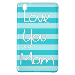 Love You Mom Stripes Line Blue Samsung Galaxy Tab Pro 8 4 Hardshell Case by Alisyart