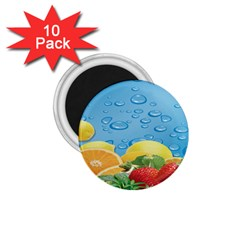 Fruit Water Bubble Lime Blue 1 75  Magnets (10 Pack)  by Alisyart