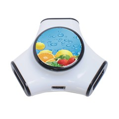 Fruit Water Bubble Lime Blue 3 Port Usb Hub by Alisyart