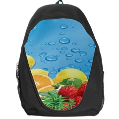 Fruit Water Bubble Lime Blue Backpack Bag by Alisyart