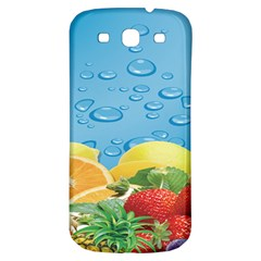 Fruit Water Bubble Lime Blue Samsung Galaxy S3 S Iii Classic Hardshell Back Case by Alisyart