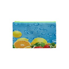 Fruit Water Bubble Lime Blue Cosmetic Bag (xs) by Alisyart