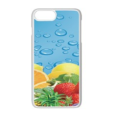 Fruit Water Bubble Lime Blue Apple Iphone 7 Plus White Seamless Case by Alisyart