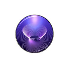 Lines Lights Space Blue Purple Hat Clip Ball Marker by Alisyart