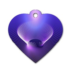 Lines Lights Space Blue Purple Dog Tag Heart (one Side) by Alisyart