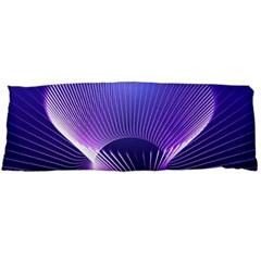 Lines Lights Space Blue Purple Body Pillow Case (dakimakura) by Alisyart