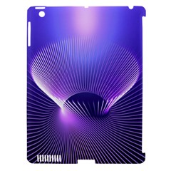 Lines Lights Space Blue Purple Apple Ipad 3/4 Hardshell Case (compatible With Smart Cover) by Alisyart