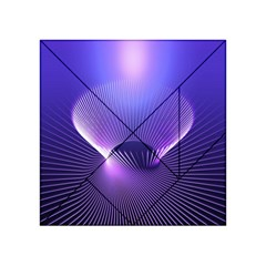 Lines Lights Space Blue Purple Acrylic Tangram Puzzle (4  X 4 ) by Alisyart